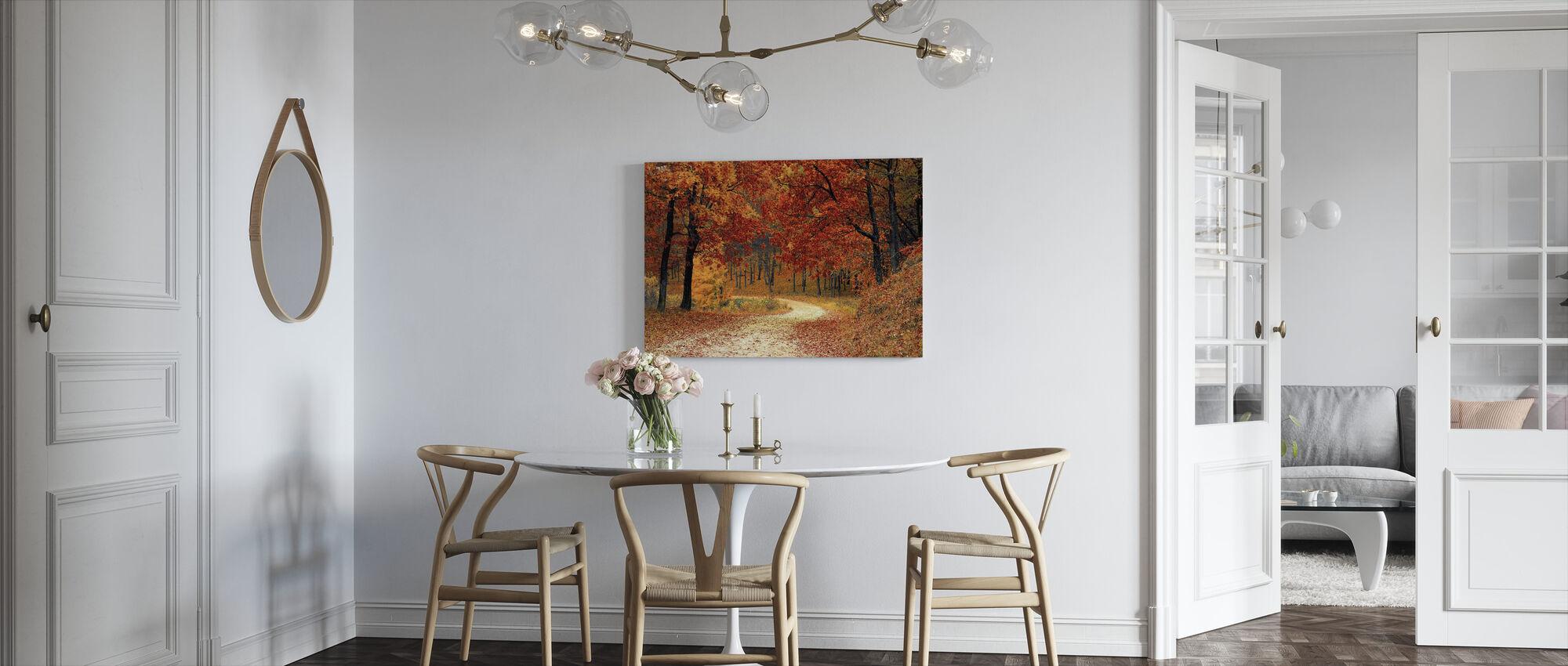Skovstien - Billede på lærred - Køkken