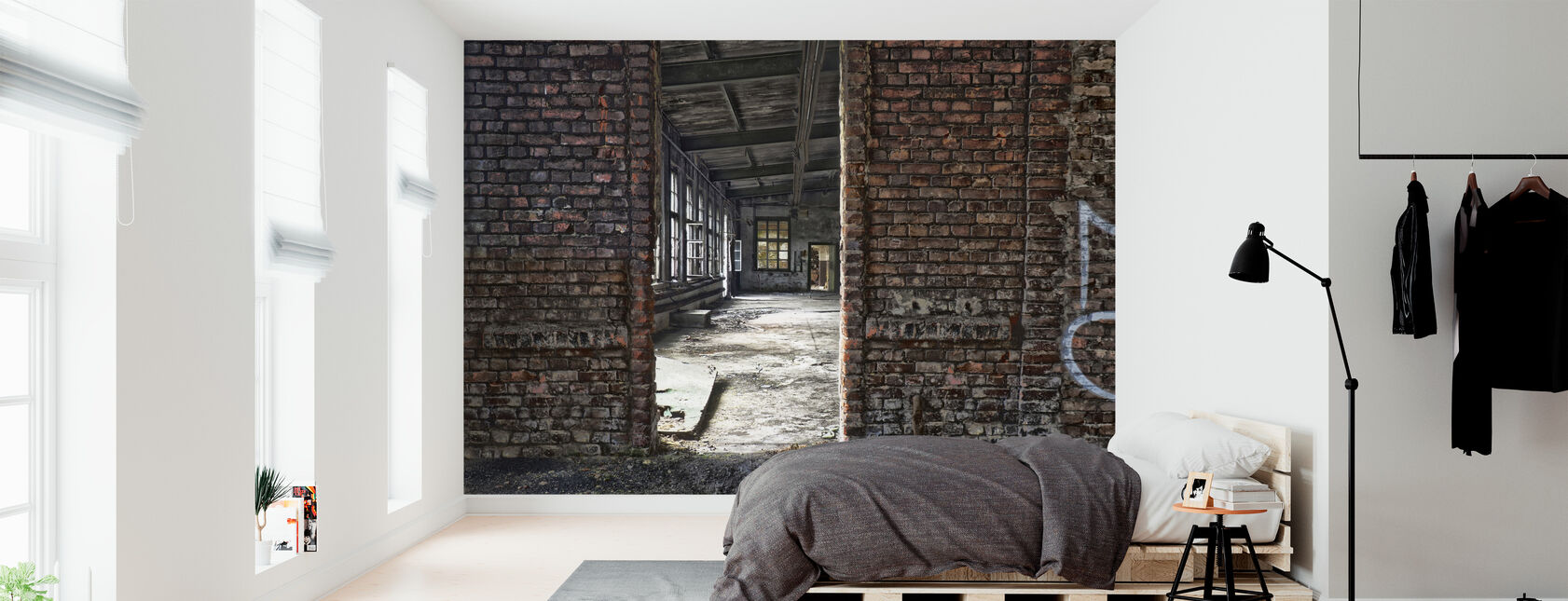 Factory Brick Wall - Wallpaper - Bedroom