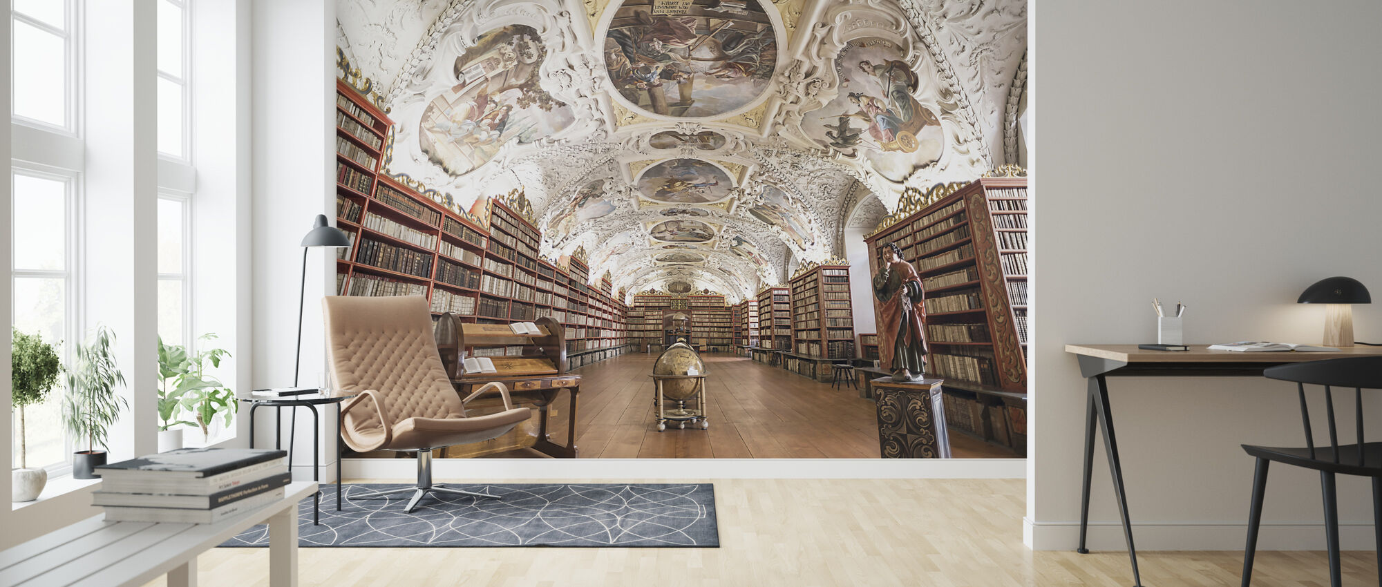 Monastery Library - Wallpaper - Living Room