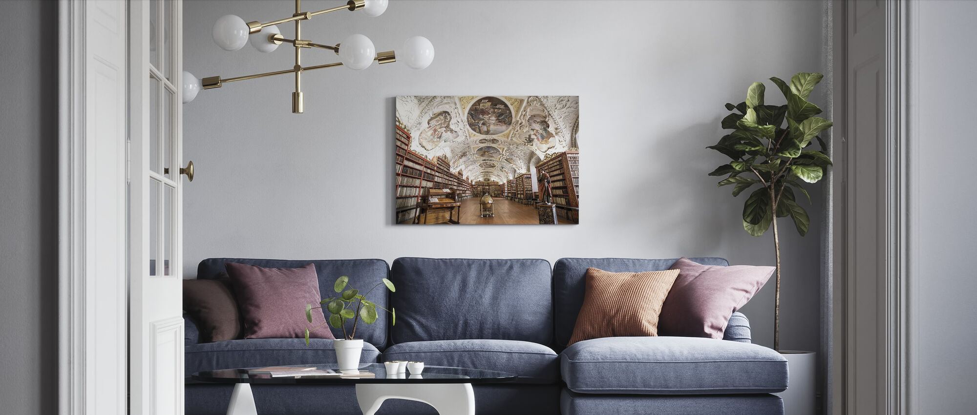 Monastery Library - Canvas print - Living Room