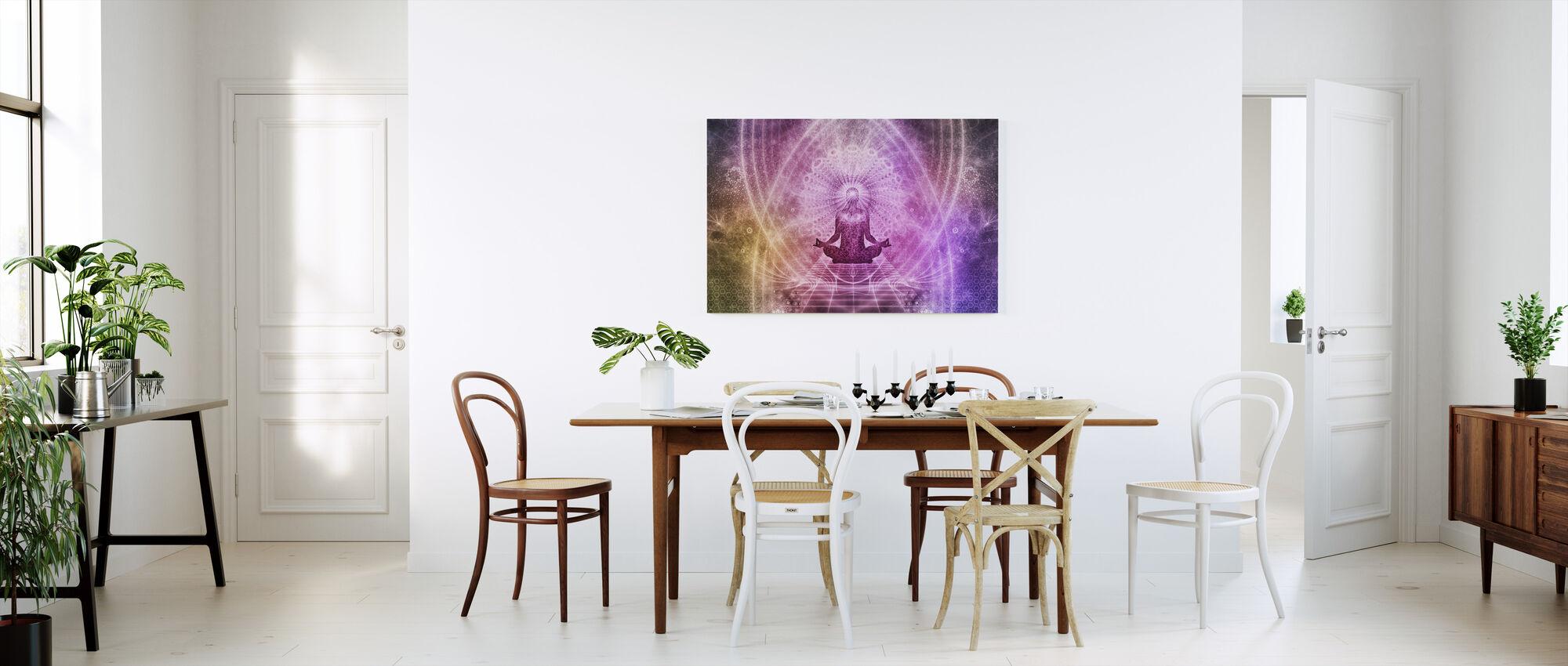 Åndelig meditasjon - Lerretsbilde - Kjøkken