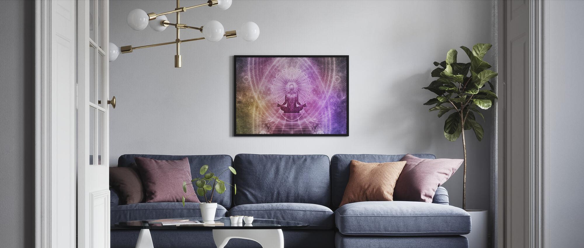 Åndelig meditation - Indrammet billede - Stue