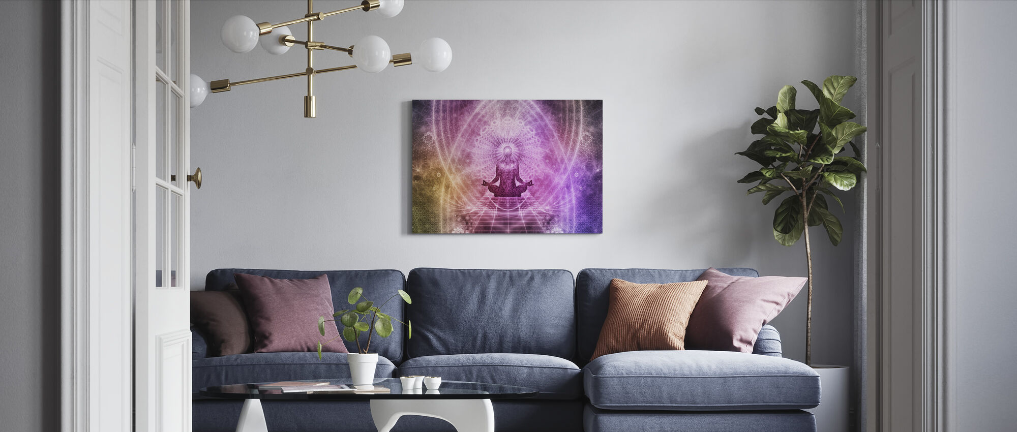 Spirituele Meditatie - Canvas print - Woonkamer