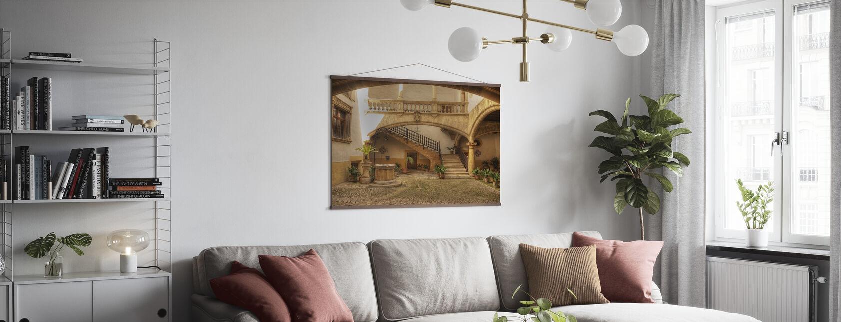 Mediterranean Courtyard - Poster - Living Room