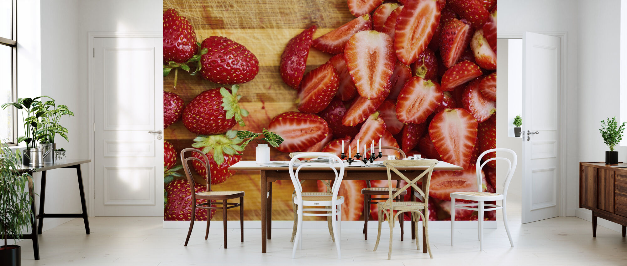 Strawberry Fruits - Wallpaper - Kitchen