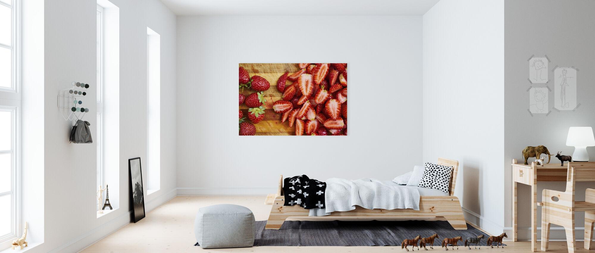 Strawberry Fruits - Canvas print - Kids Room