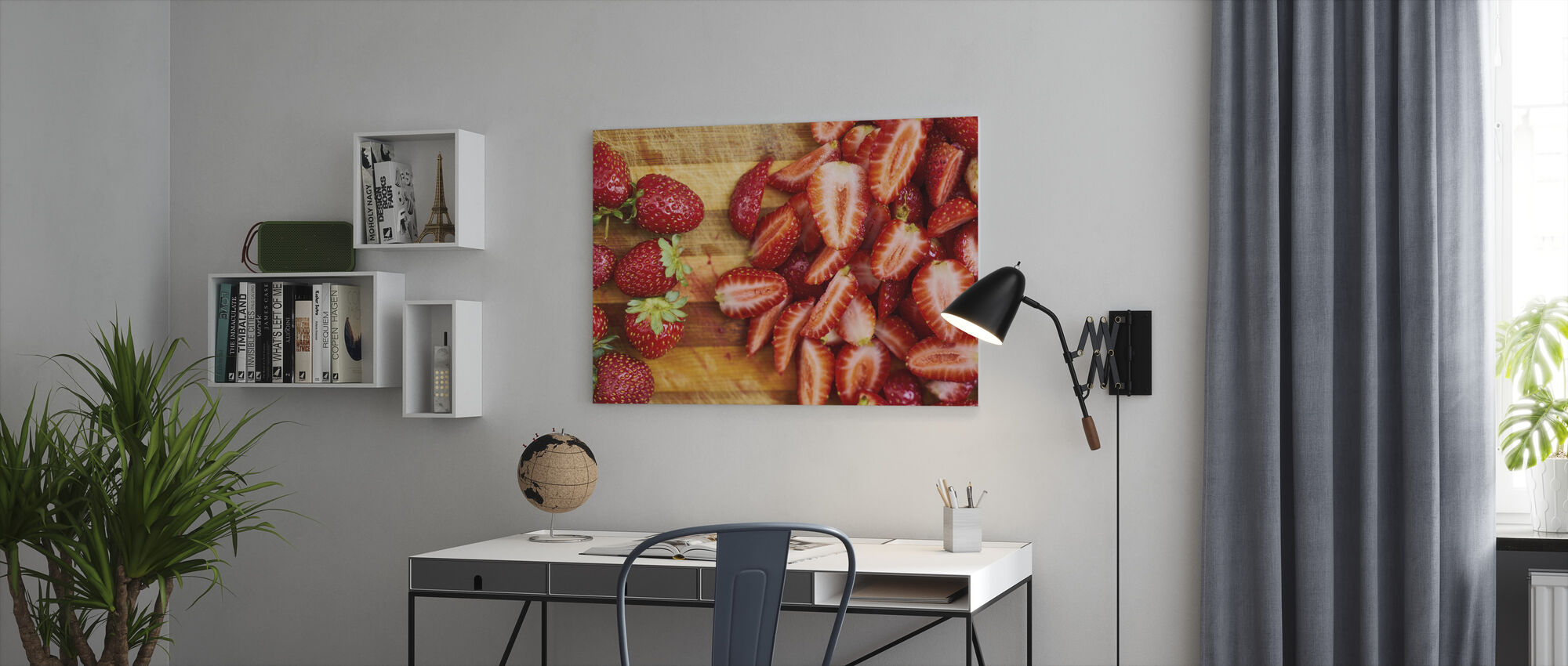 Strawberry Fruits - Canvas print - Office
