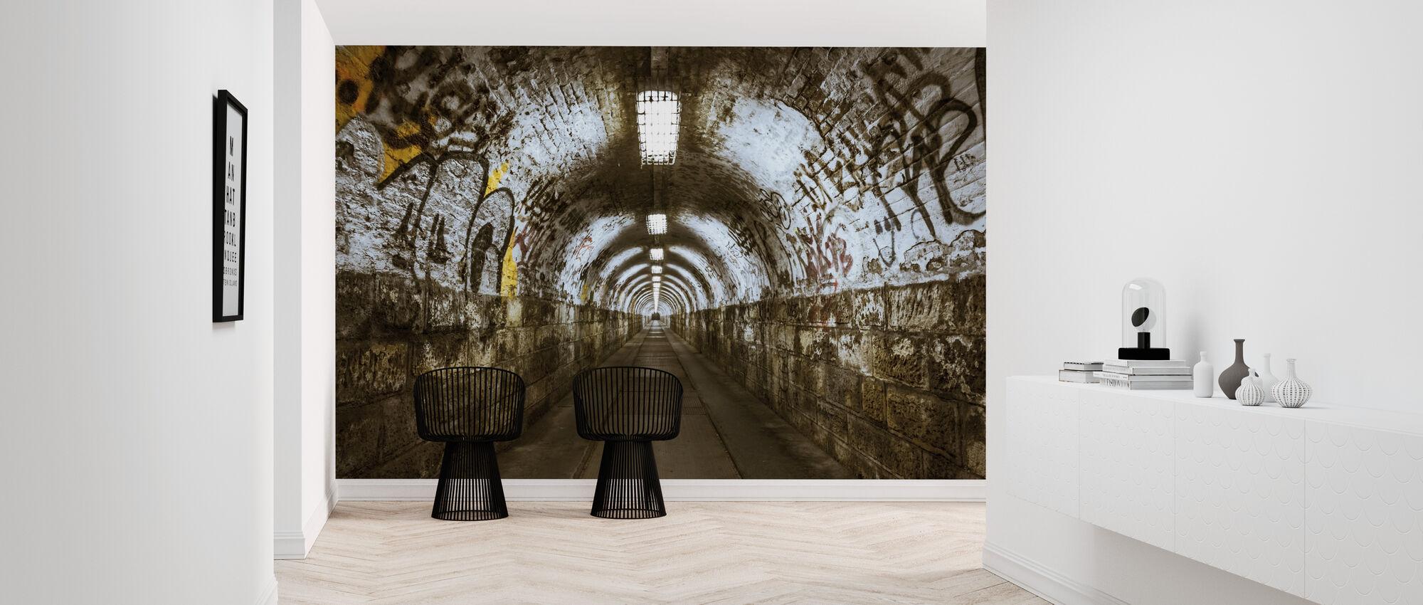 Underground Tunnel - Wallpaper - Hallway