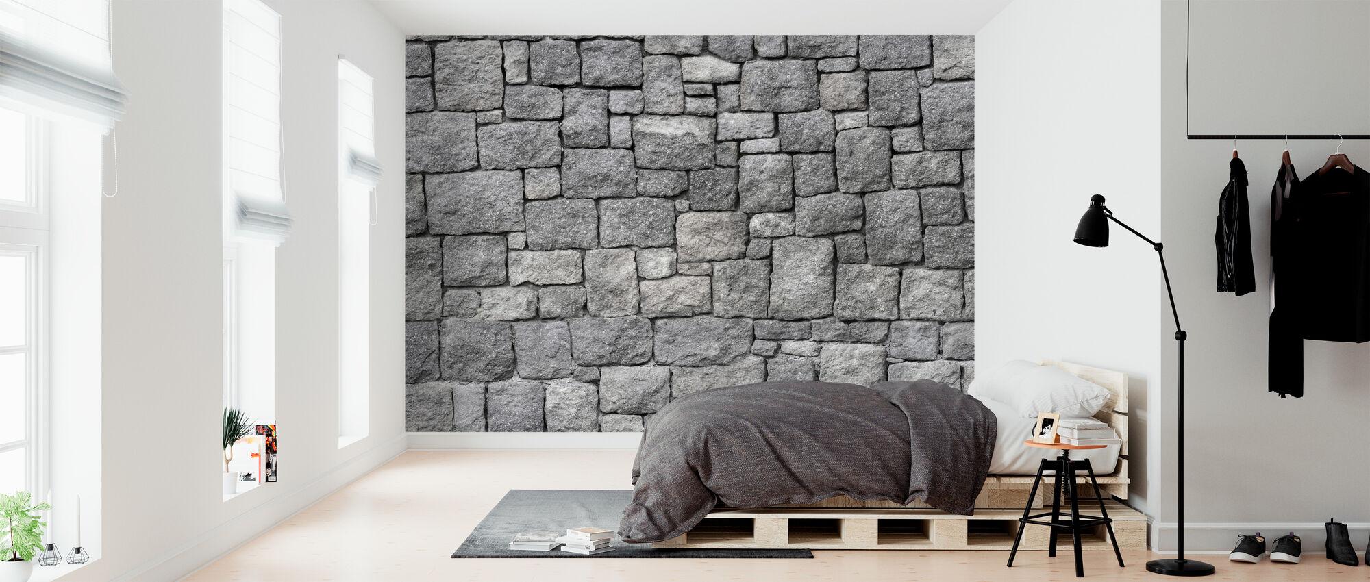 Gammal grå sten mur - Tapet - Sovrum