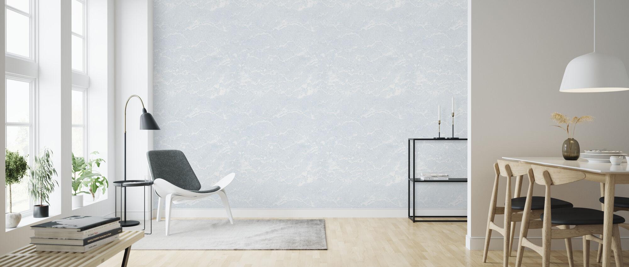 Seamless Azure Marble - Wallpaper - Living Room