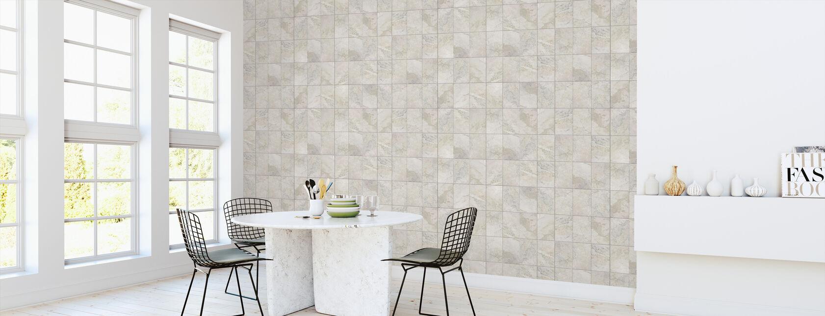 Sömlös marmor kakel - Tapet - Kök