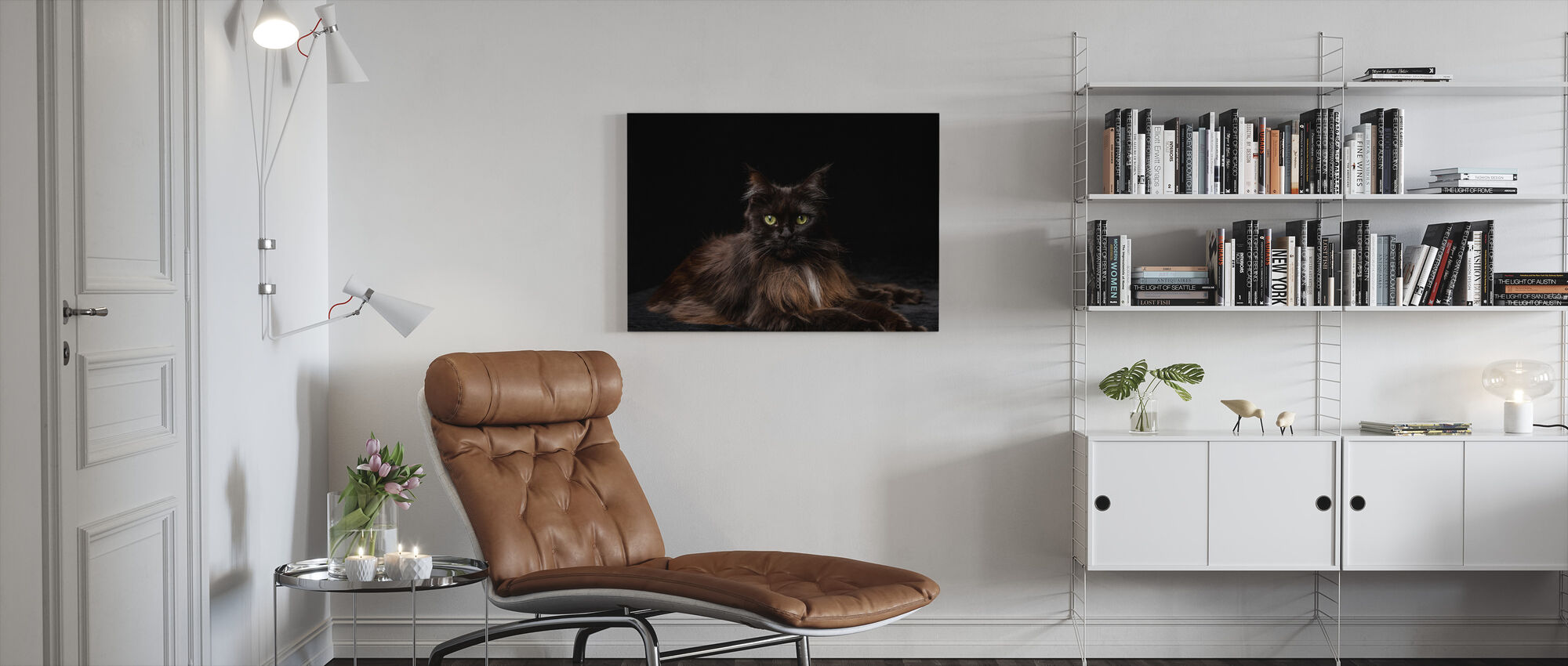 Maine Coon Cat Brown - Canvas print - Living Room