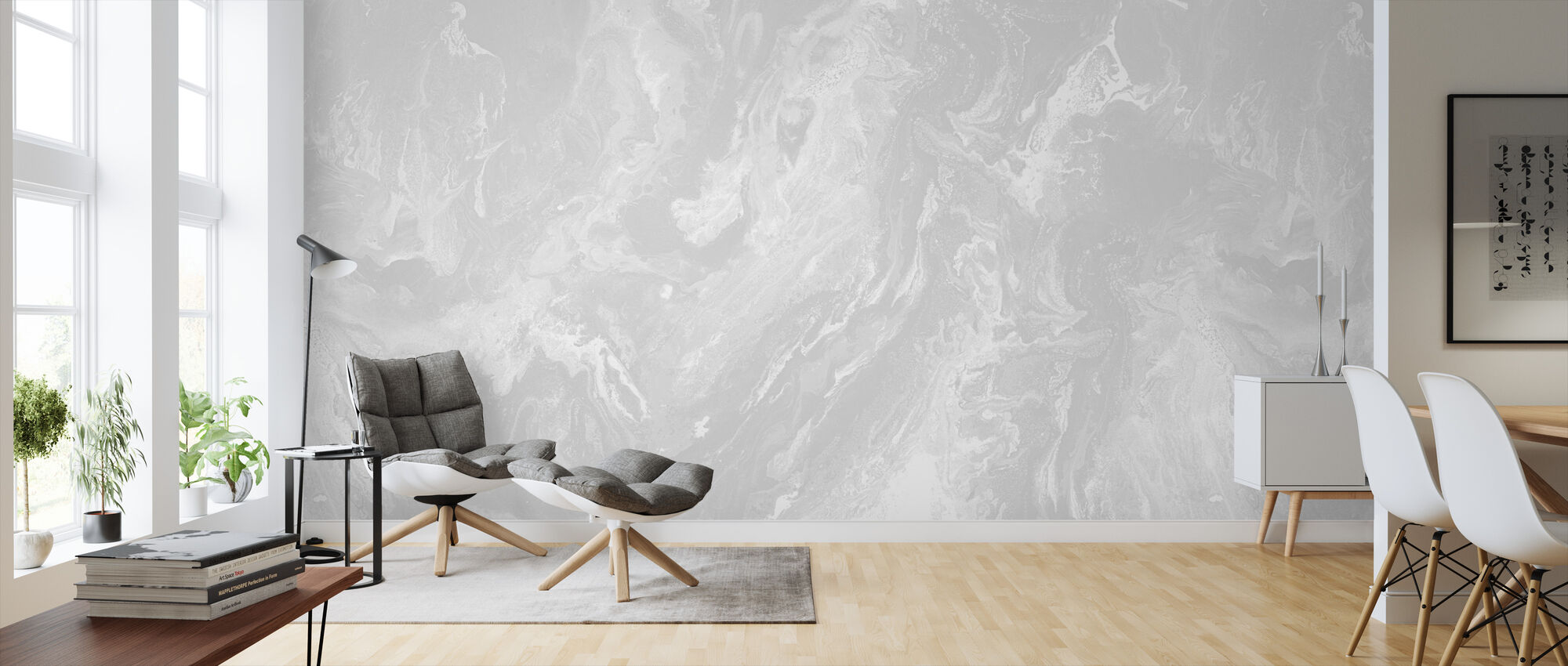 Brume - Silver Dust - Wallpaper - Living Room