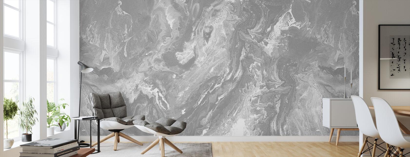 Brume - Granite - Behang - Woonkamer