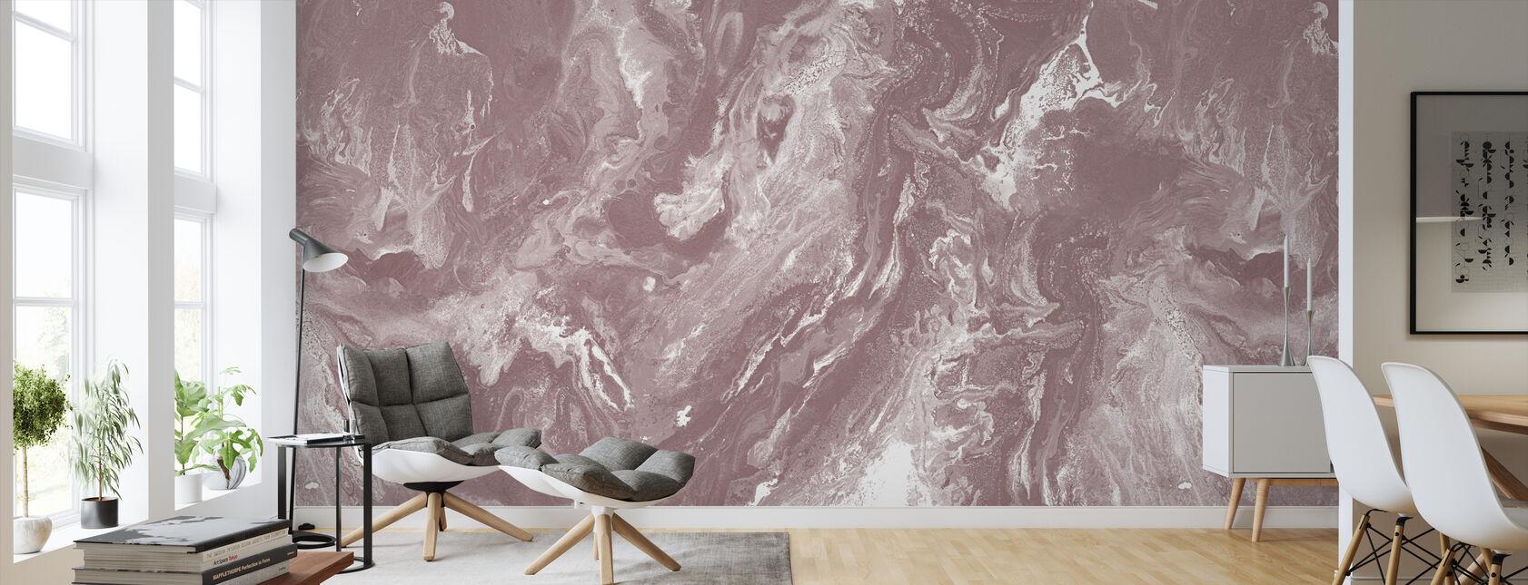 Brume - Old Blush - Wallpaper - Living Room