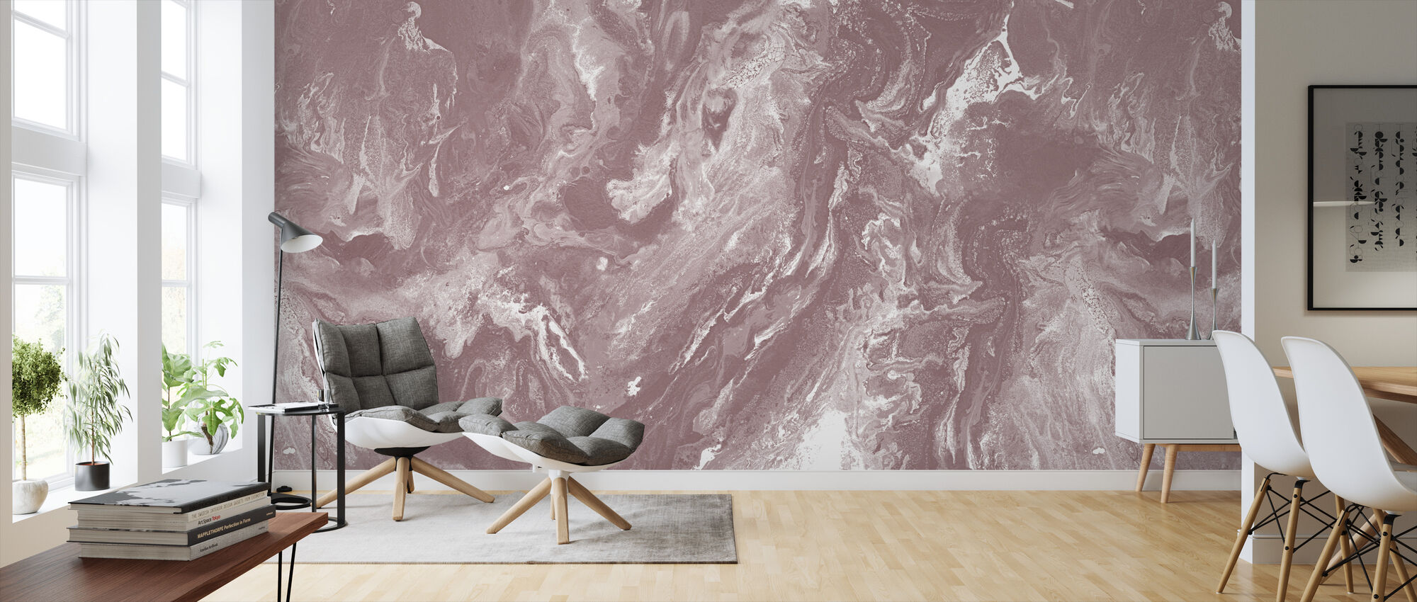 Brume - Old Blush - Wallpaper - Living Room