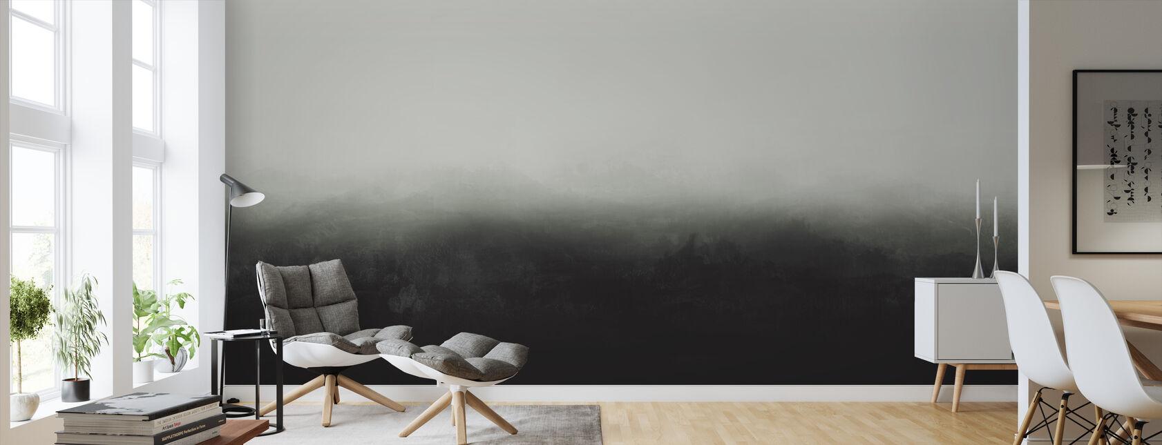 Horizon - Bleke Groen - Behang - Woonkamer