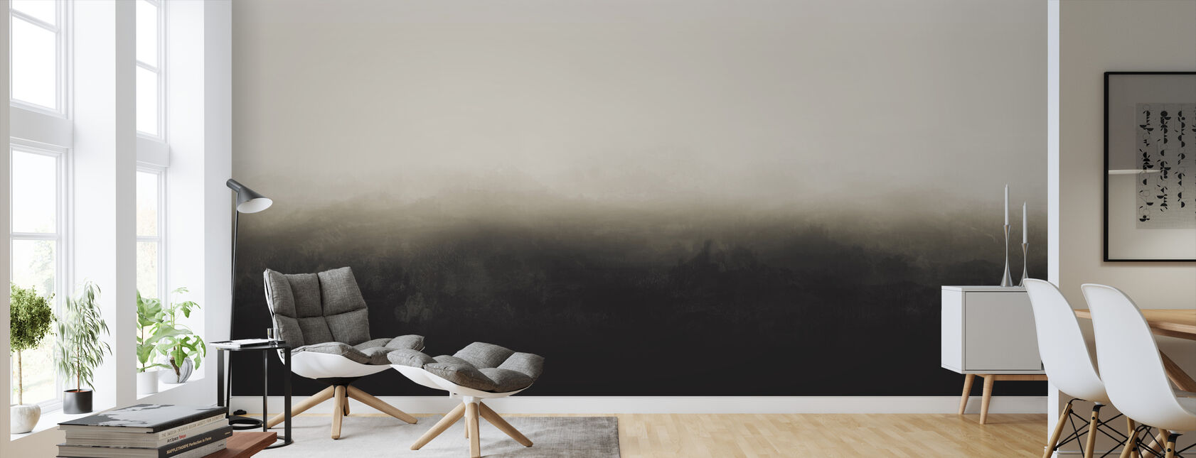 Horizon - Yellow Ash - Wallpaper - Living Room