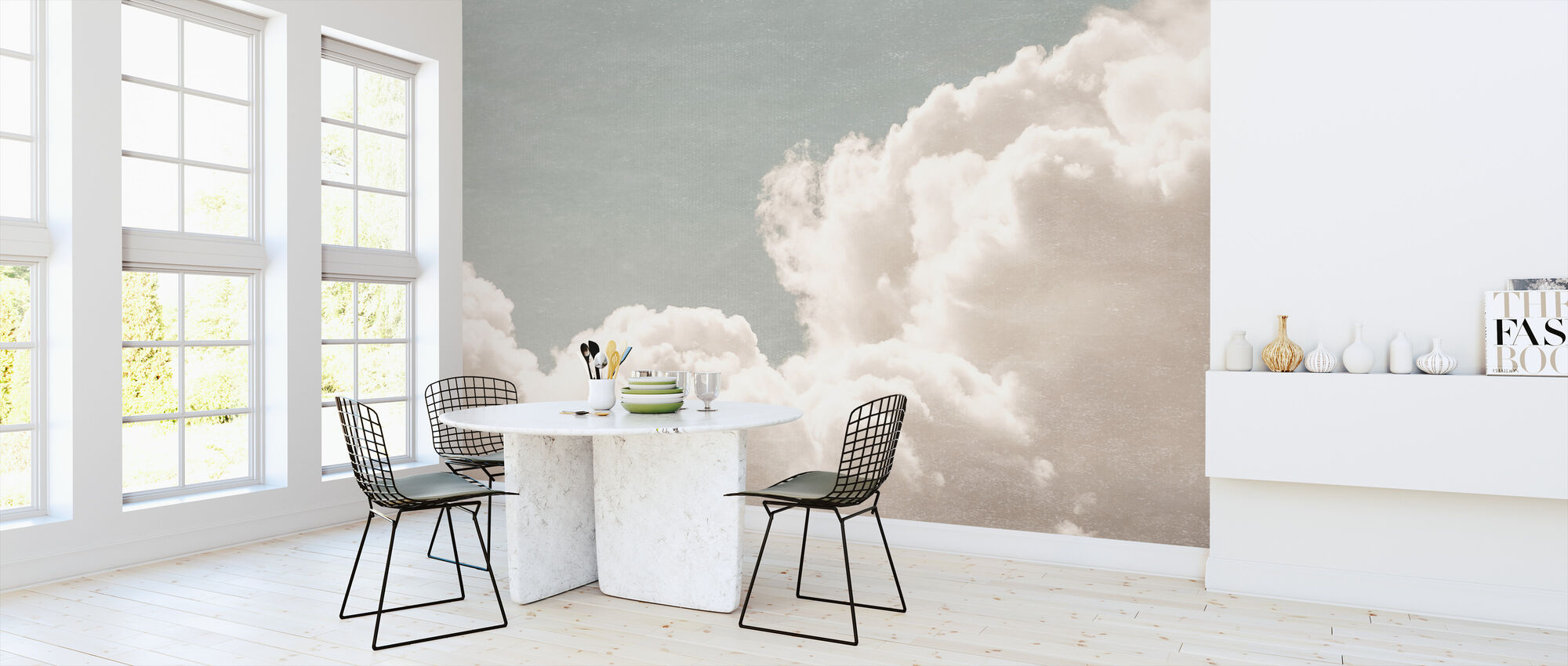 Blush Clouds Daydream Filter Affordable Wall Mural Photowall