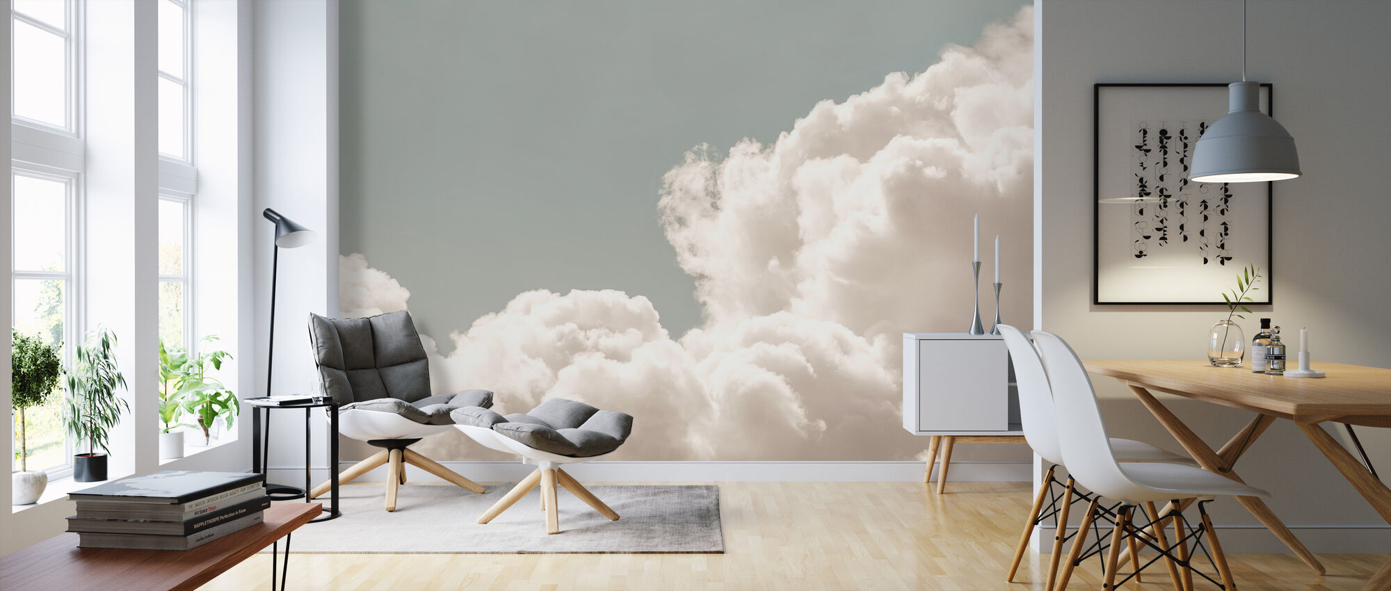 Blush Clouds Daydream - Wallpaper - Living Room