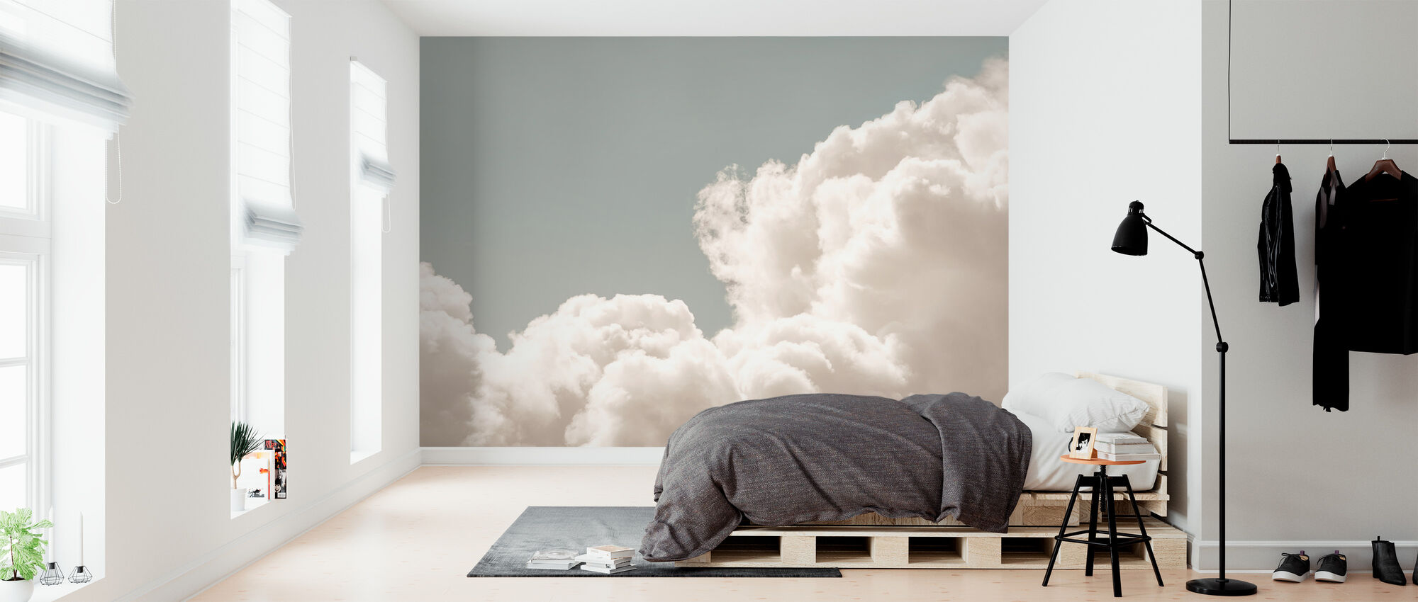 Blush Clouds Daydream Trendy Wall Mural Photowall