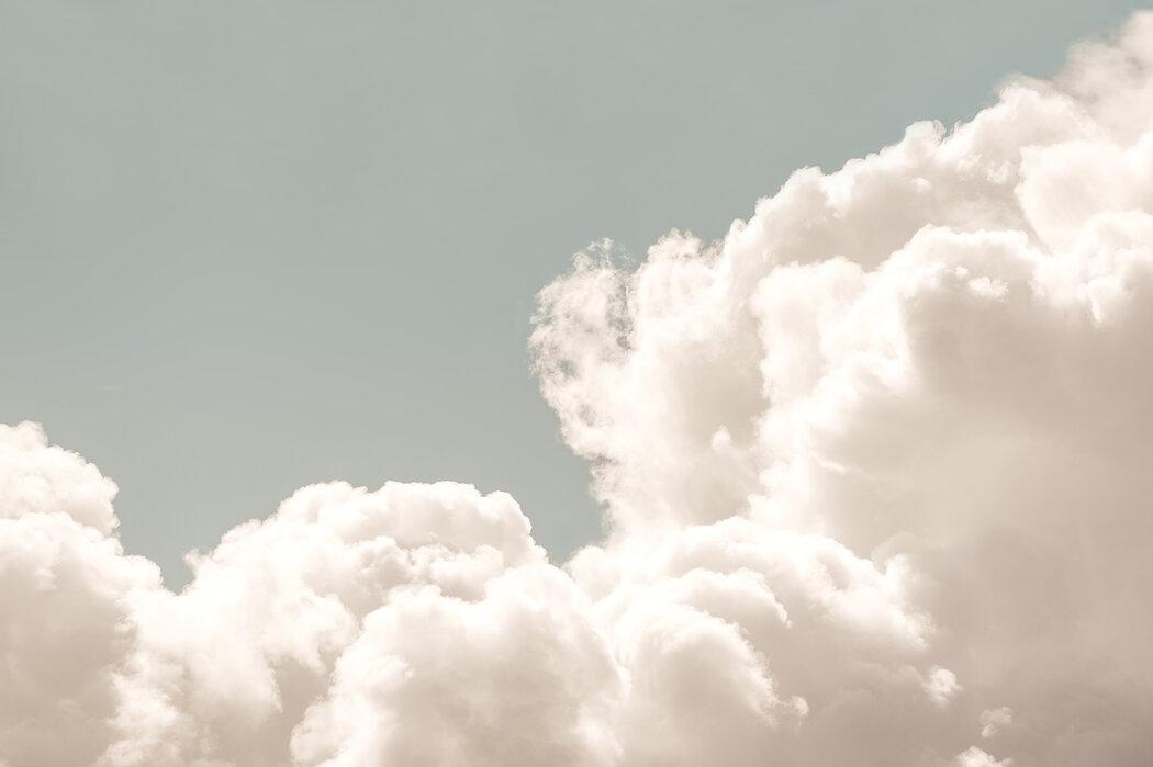 Blush Clouds Daydream Trendige Fototapete Photowall