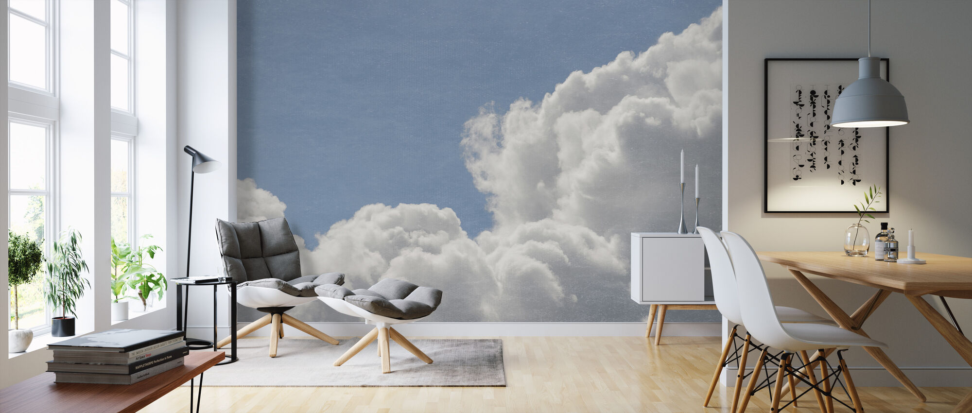 Blush Clouds Filter - Wallpaper - Living Room