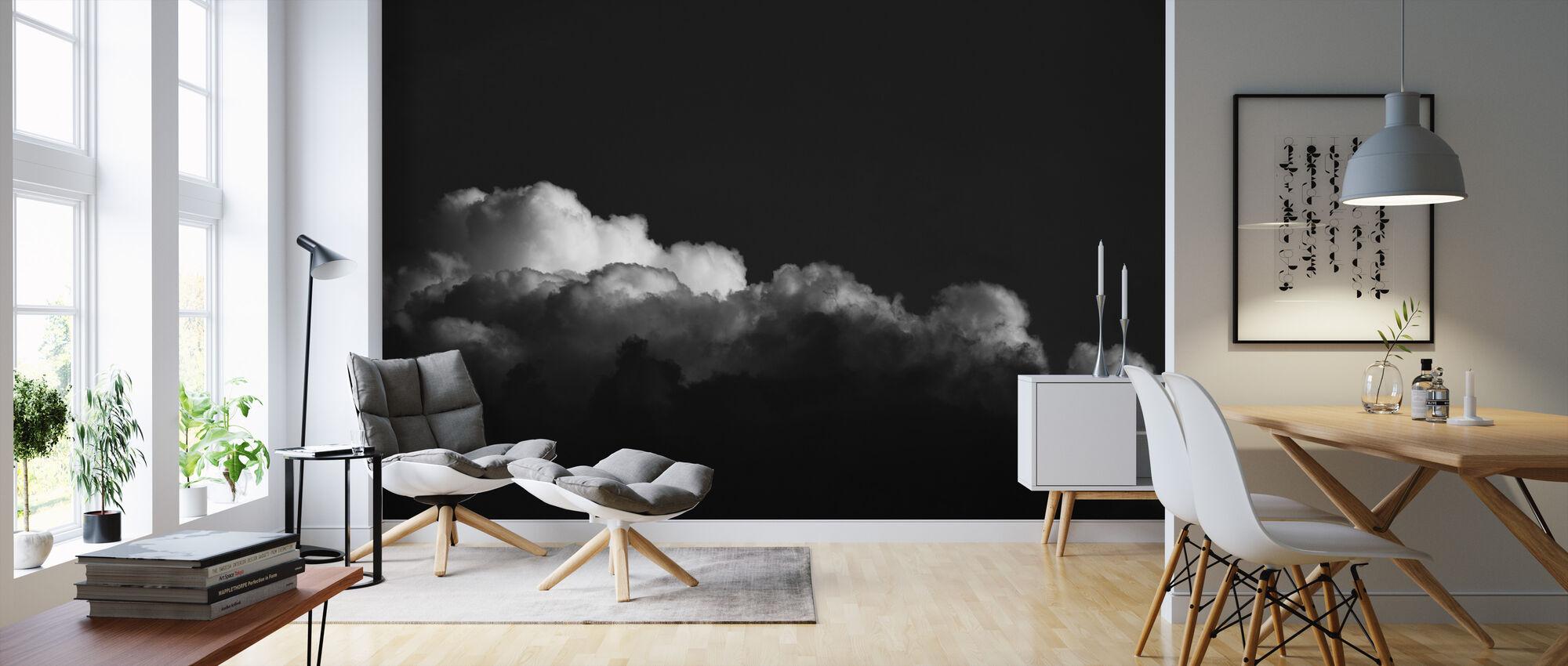 Gradient Cloud BW - Wallpaper - Living Room