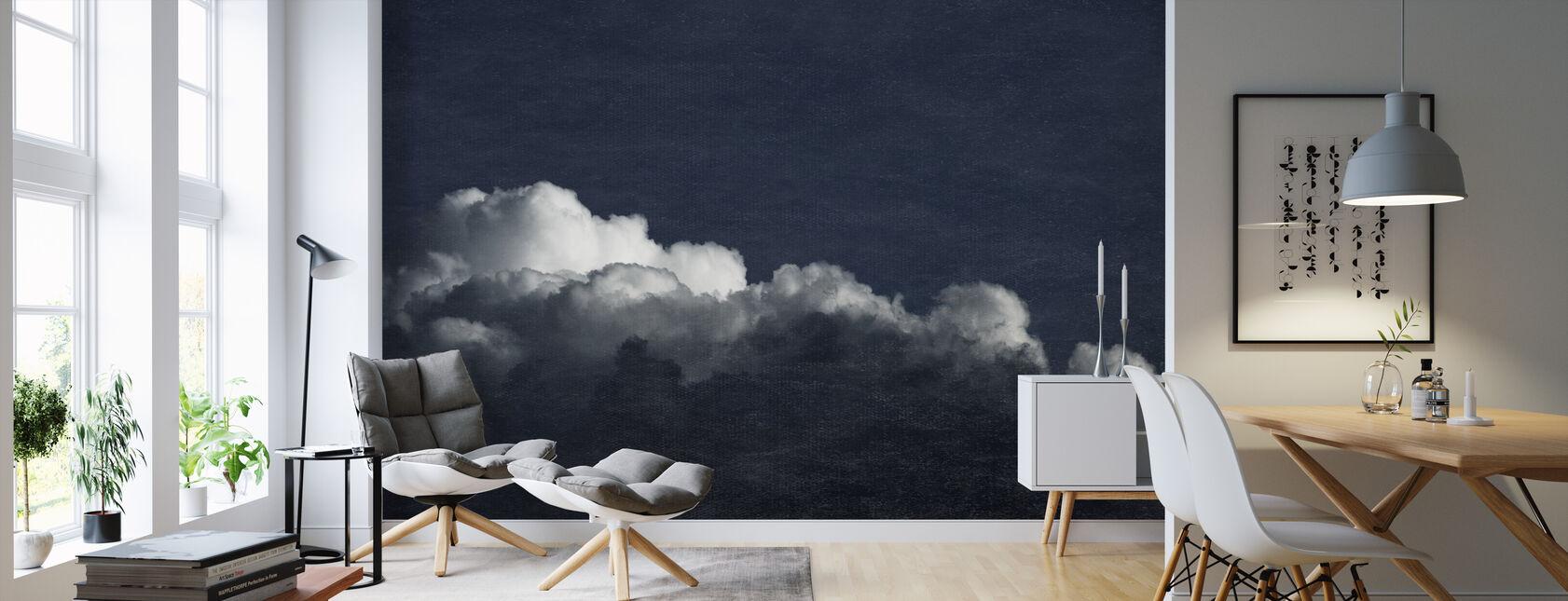 Gradient Cloud Dark Blue Filter - Wallpaper - Living Room