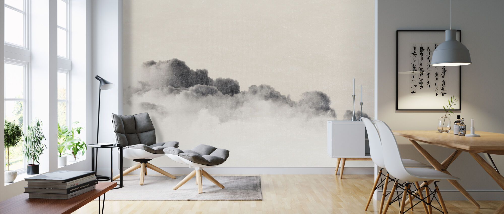 Gradient Cloud Filter - Wallpaper - Living Room