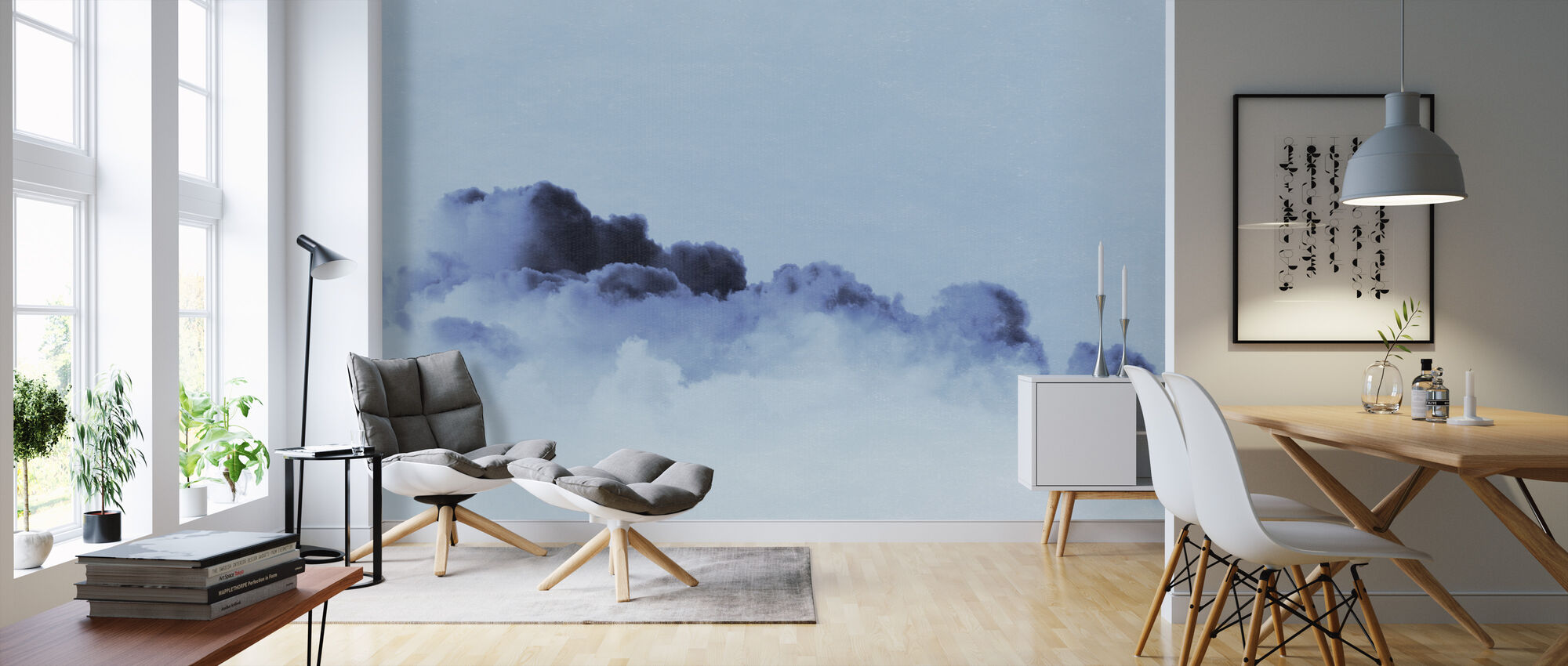 Gradient Cloud Inky Filter - Wallpaper - Living Room