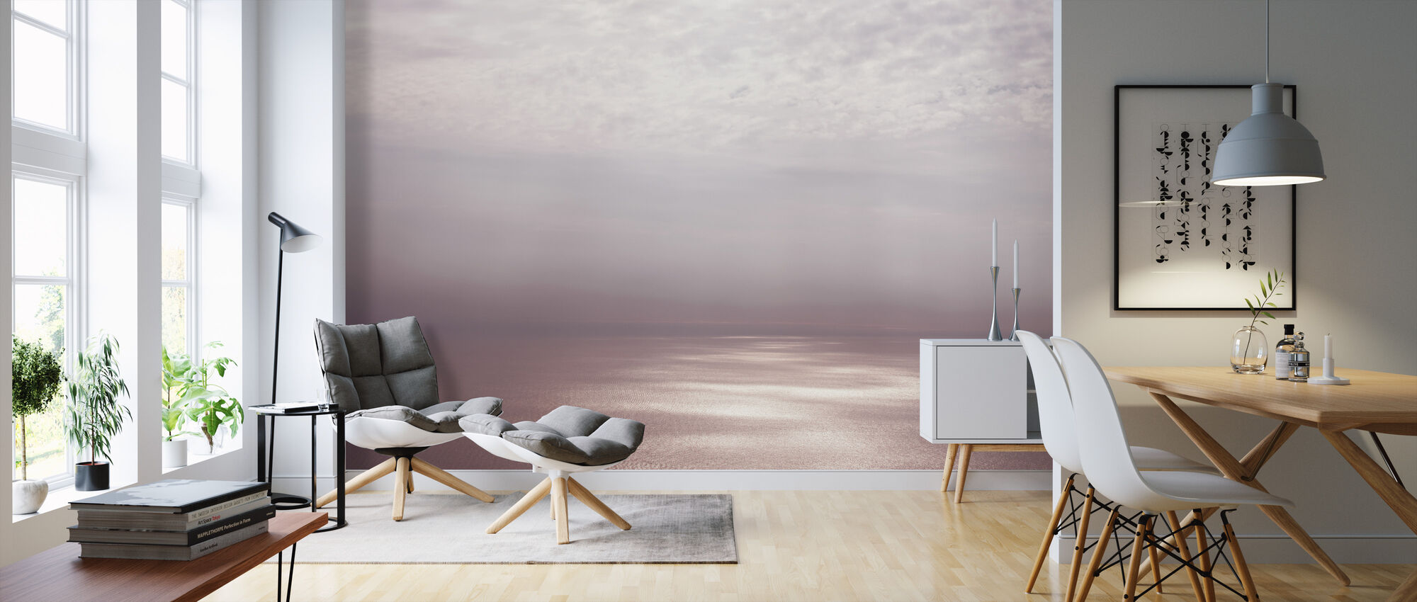 Smoke Horizon Dawn - Wallpaper - Living Room