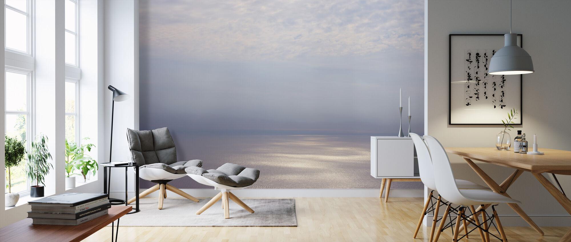 Smoke Horizon Zilver - Behang - Woonkamer