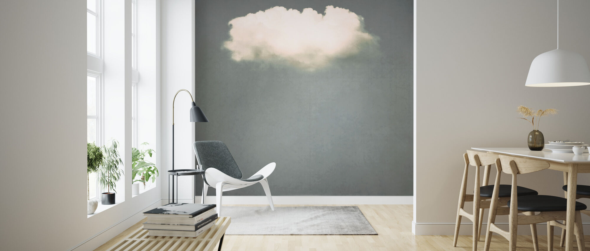 Solo Cloud Blush - Wallpaper - Living Room