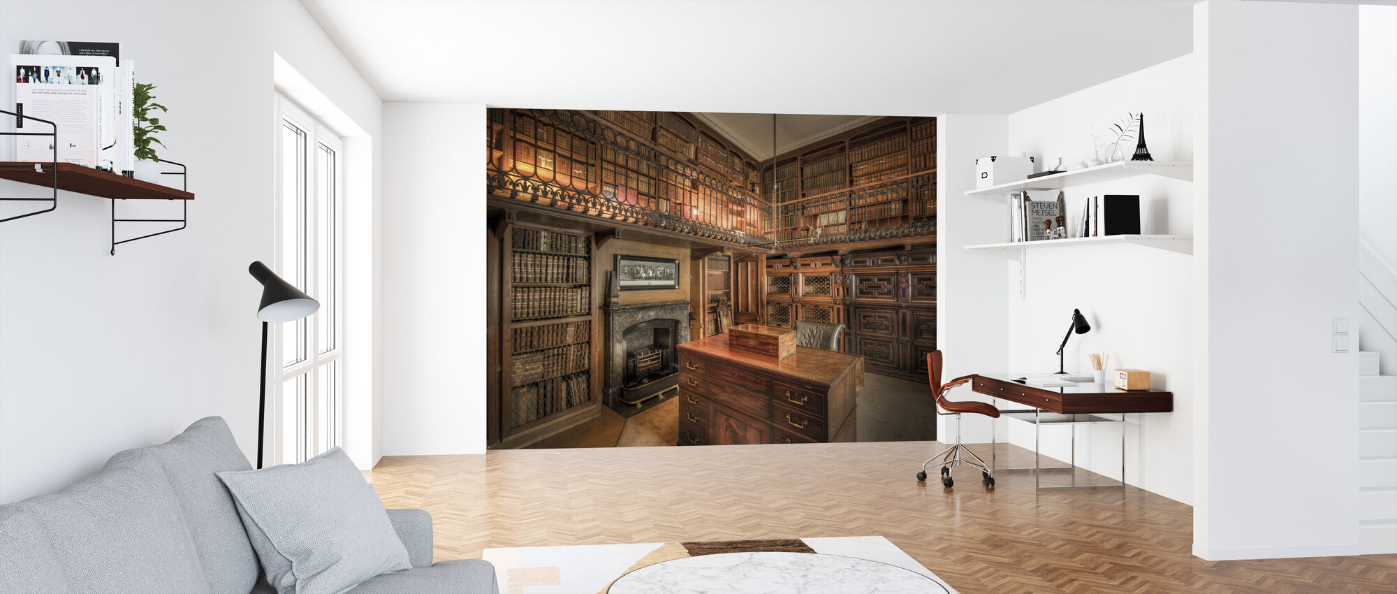 Library and Study Room - Wallpaper - Office