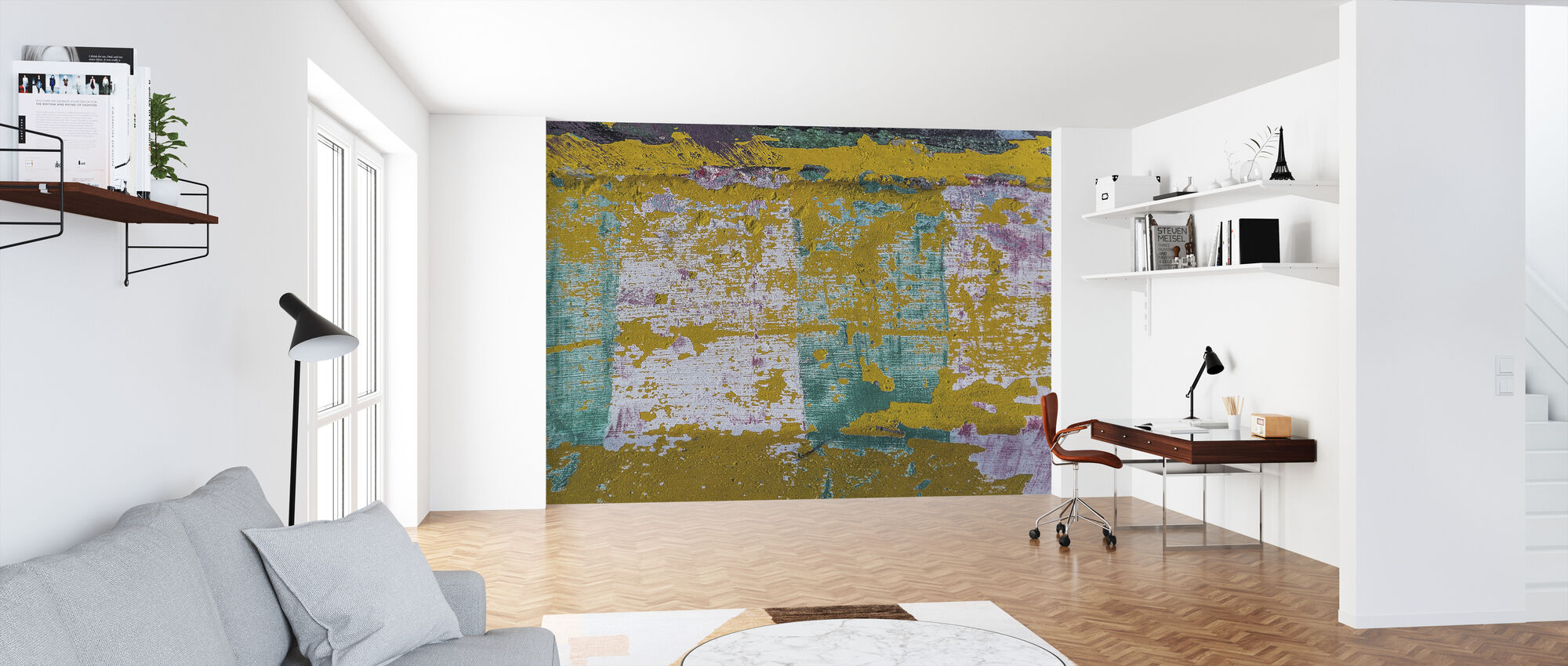 Abstract Wall Paint - Wallpaper - Office