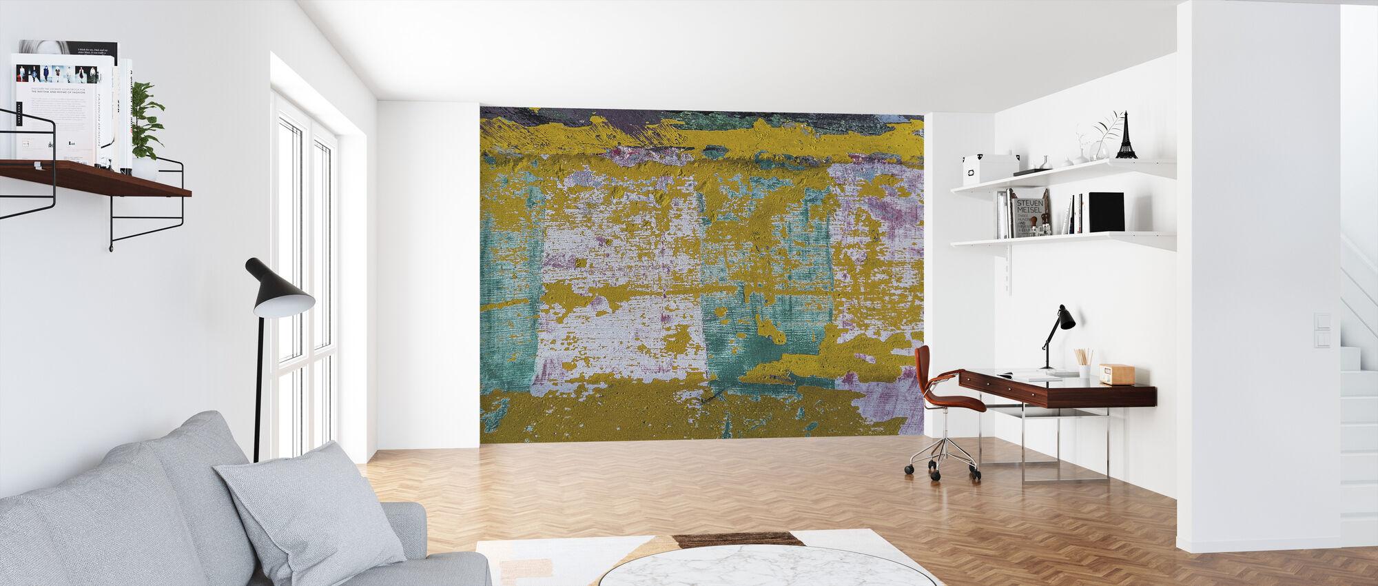 Abstrakti seinämaali - Tapetti - Toimisto