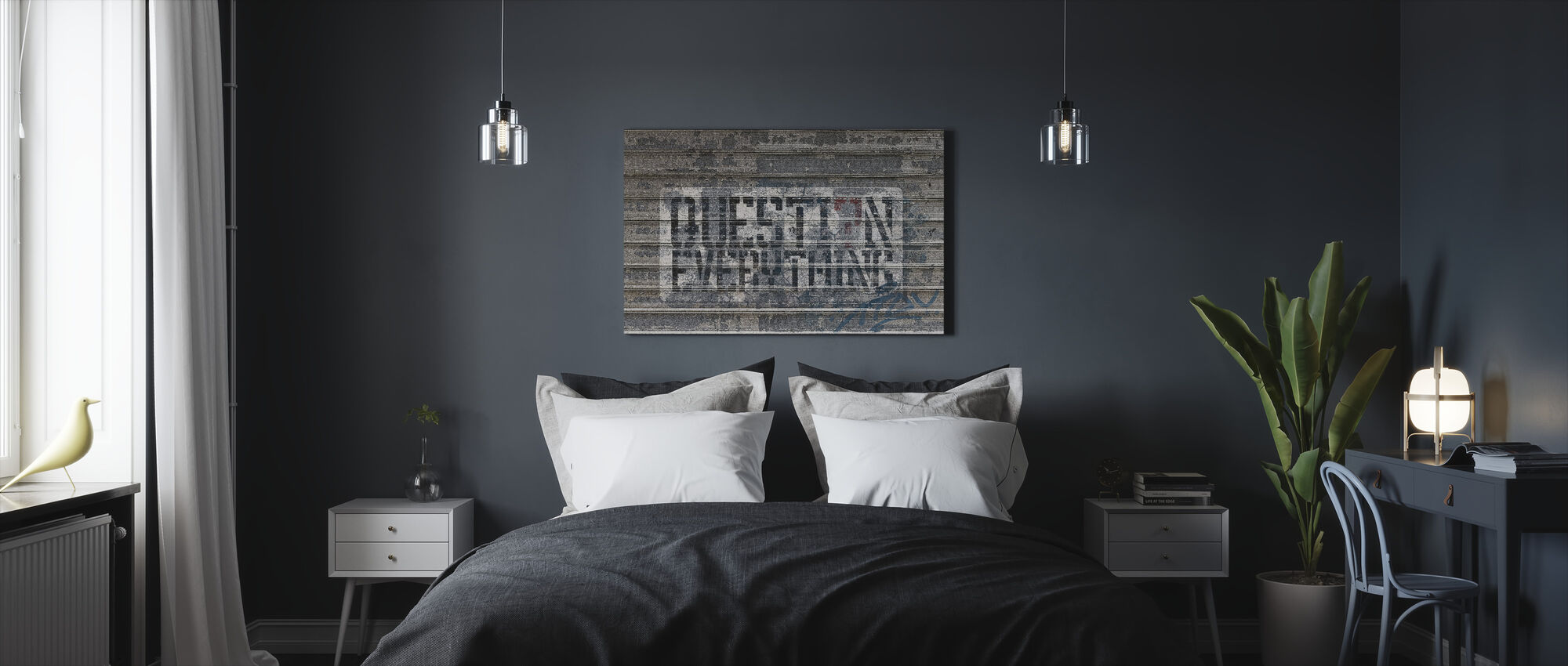 Graffiti Street Art - Canvas print - Bedroom