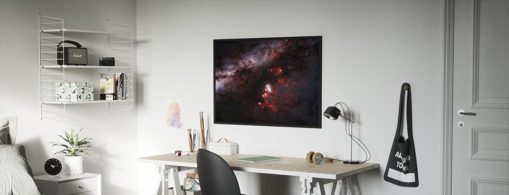 Mørke i galaksen - Innrammet bilde - Barnerom