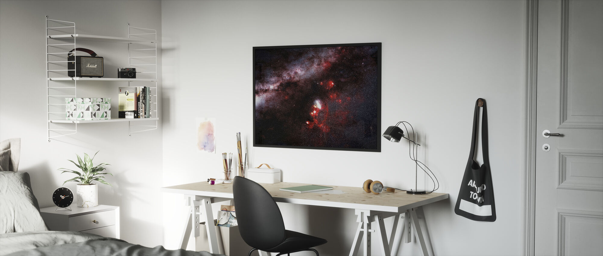 Darkness in the Galaxy - Framed print - Kids Room