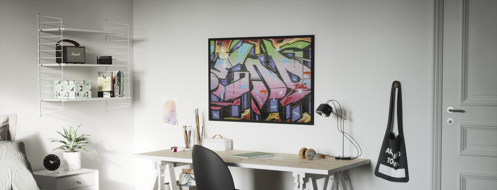 Street Art Graffiti - Framed print - Kids Room