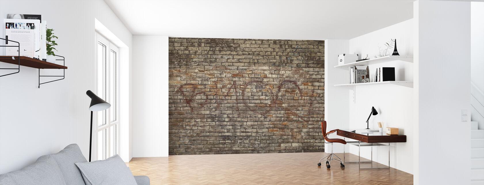 Tegelvägg Graffiti - Tapet - Kontor