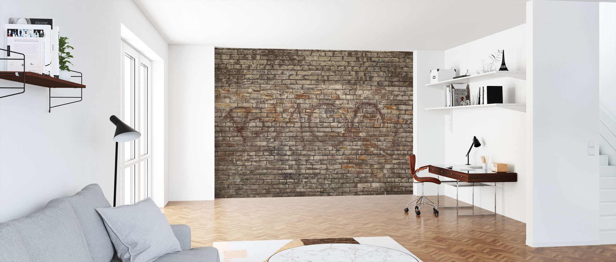 Mursten Wall Graffiti - Tapet - Kontor