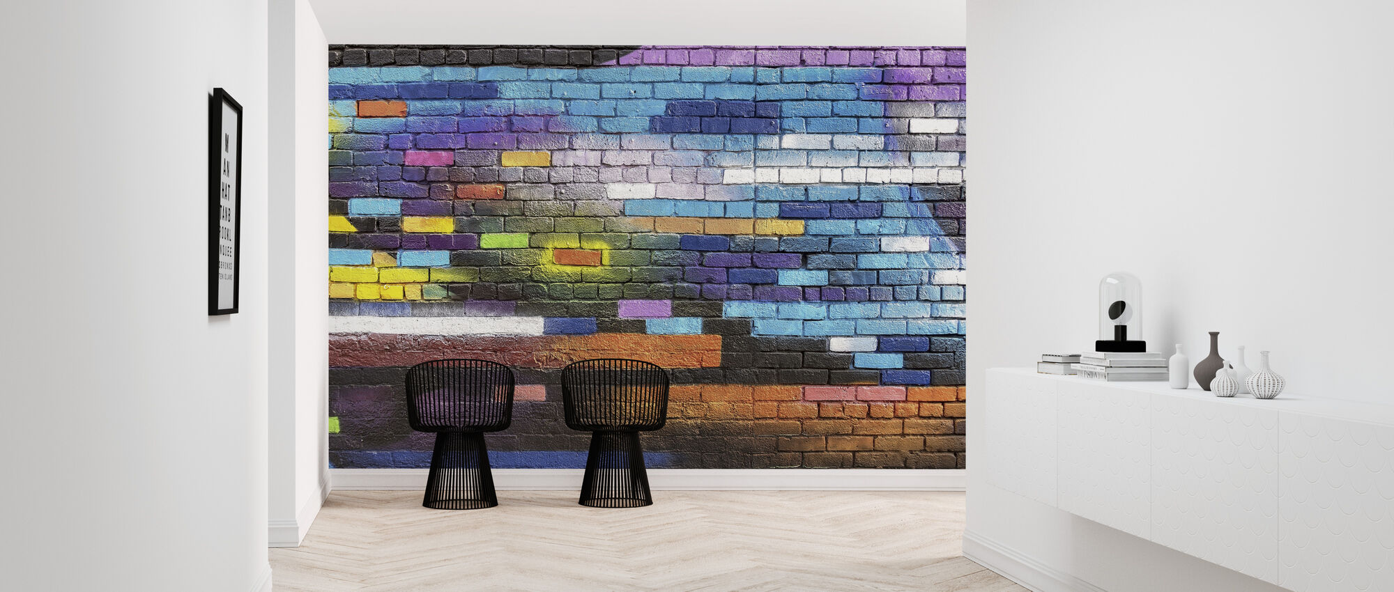 Colorful Brick Wall - Wallpaper - Hallway