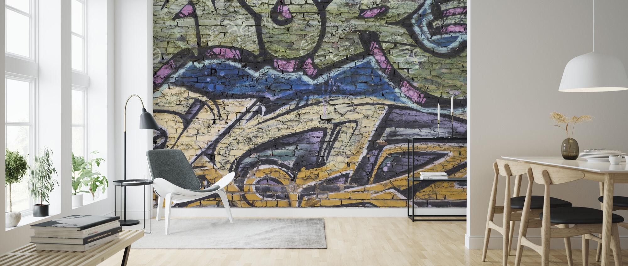 Street Art Wand - Tapete - Wohnzimmer