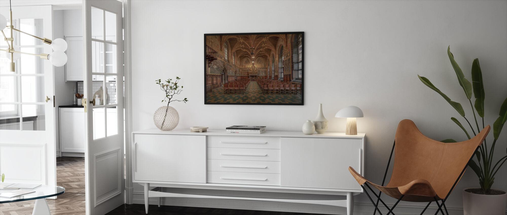 Bruges City Hall - Framed print - Living Room