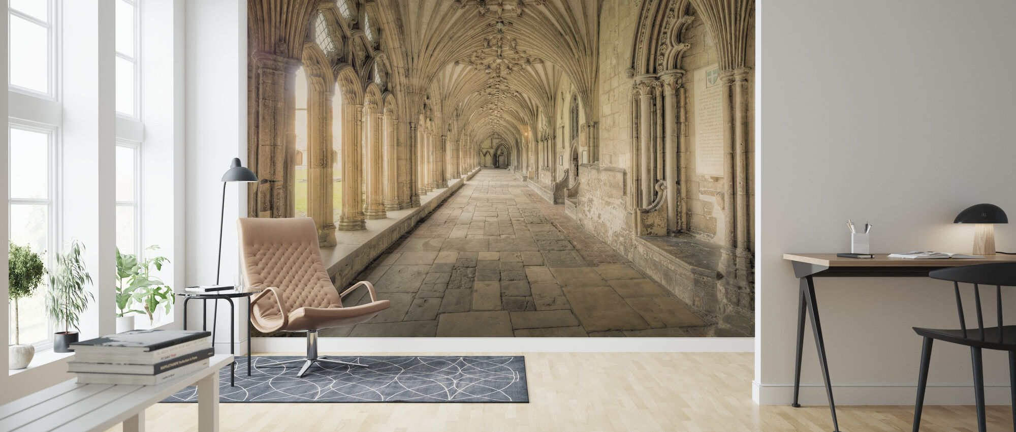 Cathedral Corridors - Wallpaper - Living Room