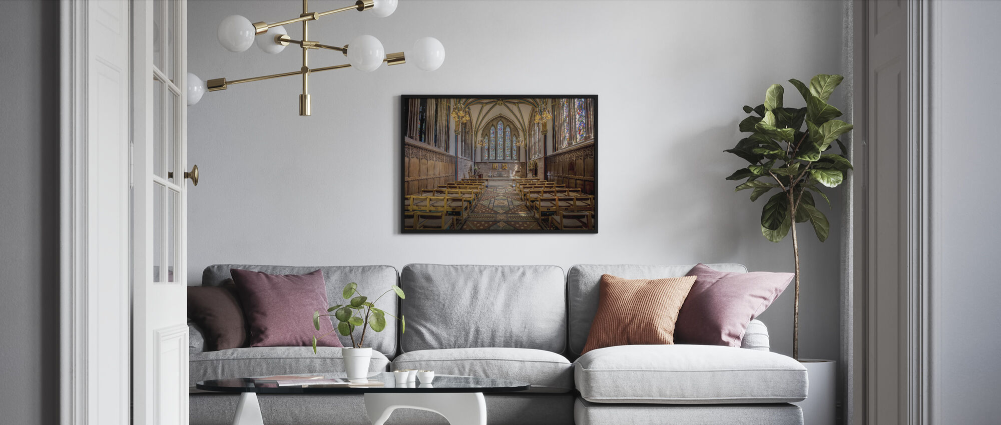 Lady Chapel - Framed print - Living Room