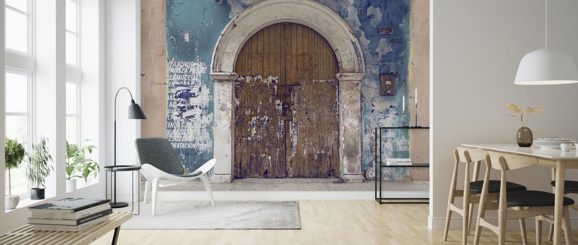 Old Door Facade - Wallpaper - Living Room