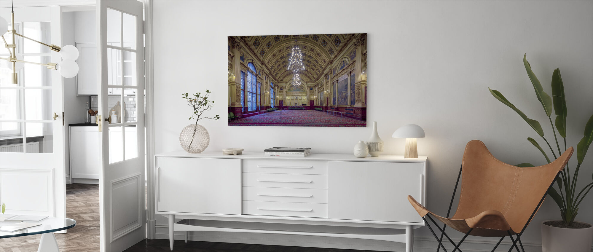 Glasgow Hall Room - Canvas print - Living Room